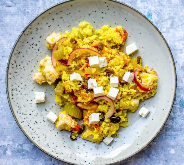 Couscous met kip en rozijnen