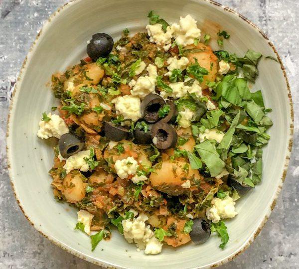 Gnocchi met boerenkool en olijven