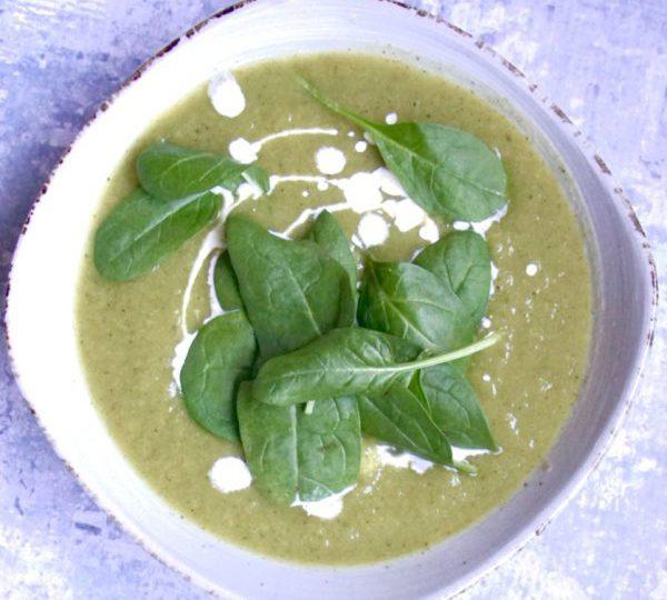 Groene mixsoep